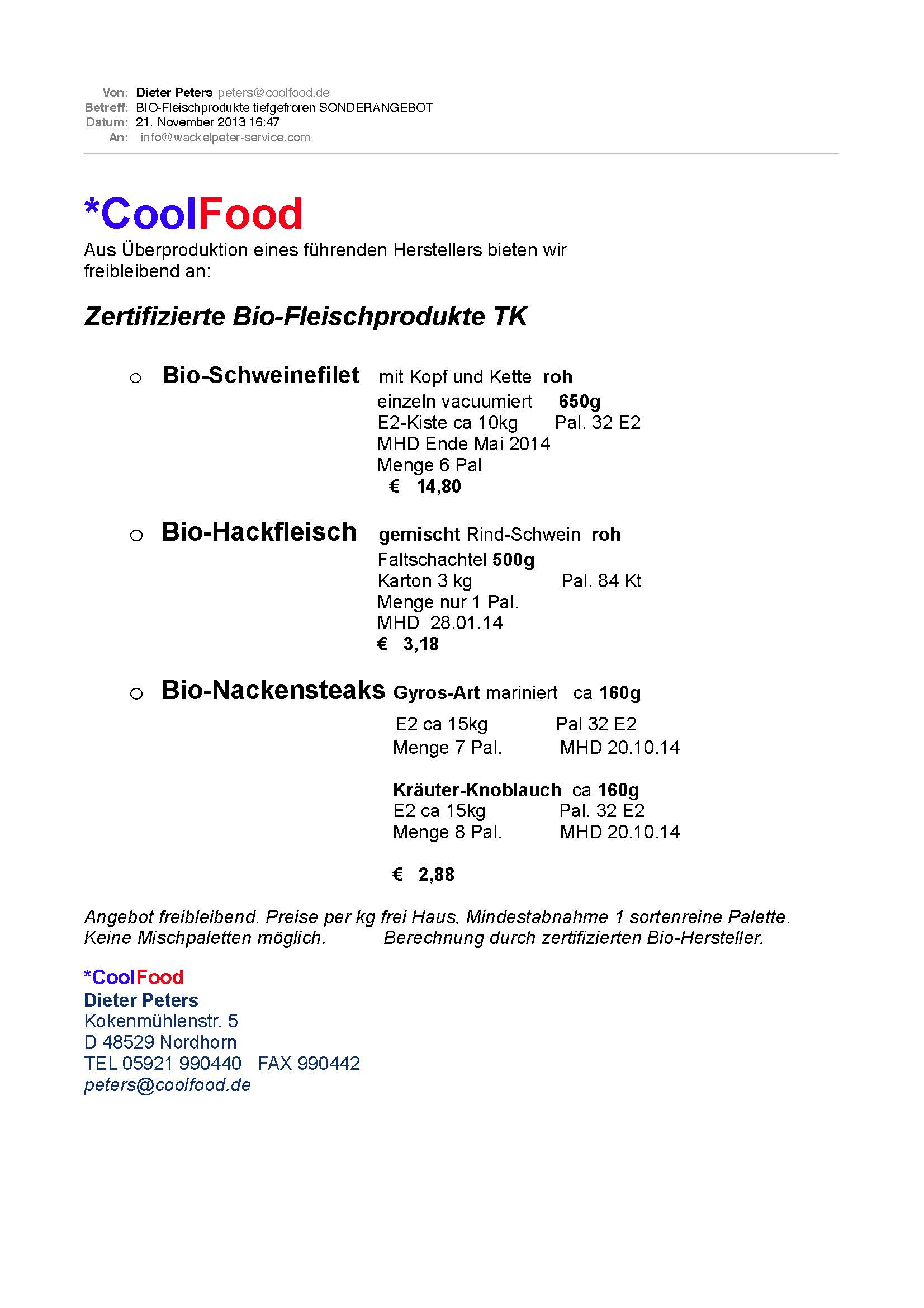 Cool Food Biomentoren